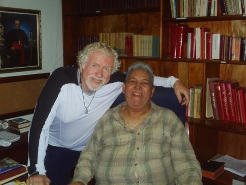 Tom Luce and Fr. Ricardo Santileses