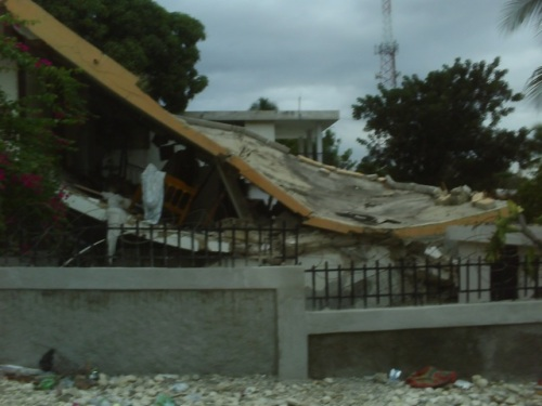 Collapsed home down the street from AUMOHD HQ