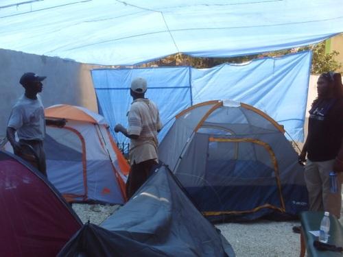 AUMOHD HQ Tent City