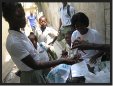 Students at Orion (40 HHE students attend) are receiving information  and medication for L.F.  Just being in school and not in the streets is a prevention against all sorts of diseases and violence against children.  Here they receive additional care.